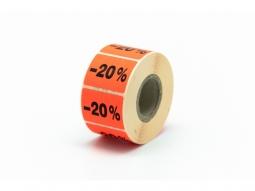 """Haftetiketten für Seal Promo """"-20%"""""""
