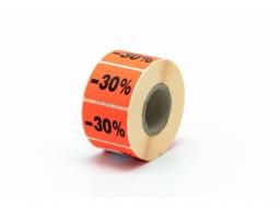 """Haftetiketten für Seal Promo """"-30%"""""""