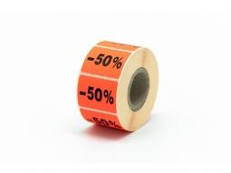 """Haftetiketten für Seal Promo """"-50%"""""""